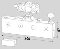 Accessoires pour ferrements pour portes coulissantes DORMA RS 120
