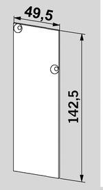 Endkappen für Wand- oder Deckenbefestigung