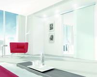 Set complet ferrements pour portes coulissantes DORMA MUTO 50, montage au plafond