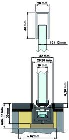 Butoir de porte pour portes coulissantes ASTEC b.1000