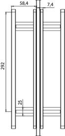 Maniglie per porte scorrevoli in vetro GRIFFWERK R8