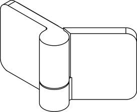 Cerniere per porte di cabine doccia GRAL BH 205