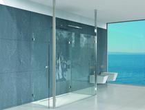 Elemento di fissaggio al soffitto-pavimento per pareti/porte in vetro PAULI+SOHN