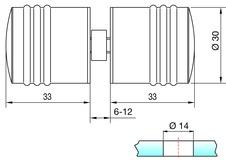 Boutons pour portes en verre PAULI+SOHN 8298