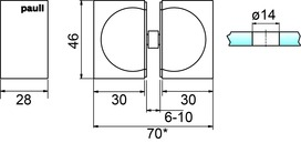 Boutons pour portes en verre PAULI+SOHN