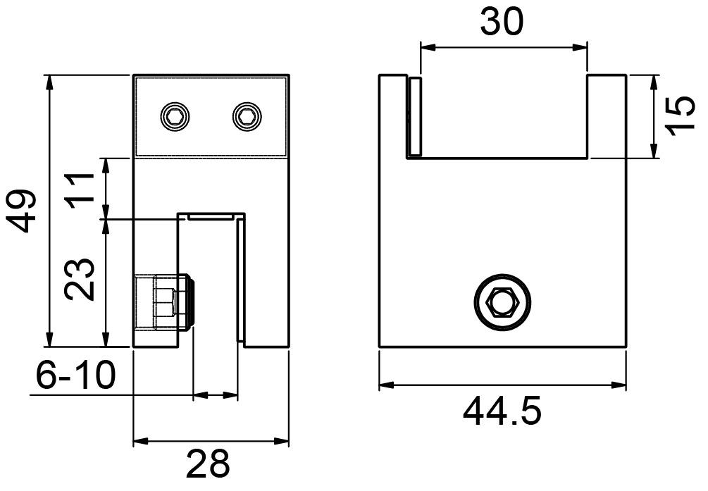 Adapter für Stabilisationsstangen PAULI+SOHN