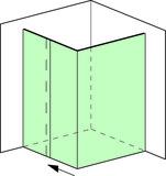 Set complet douche d'angle Vitris Aquant 40