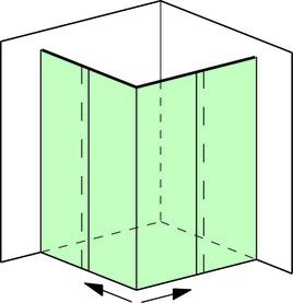 Eckdusche Komplettset Vitris Aquant 40