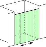 Set complet douches de niche Vitris Aquant 40