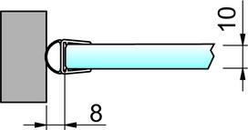 Joint d'étanchéité pour douche latéralement 8861 PAULI+SOHN