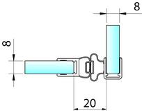 Joint d'étanchéité pour douche avec aimant 90° PAULI+SOHN