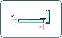 Profili di tenuta box doccia  lateralmente 90° PAULI+SOHN con battuta