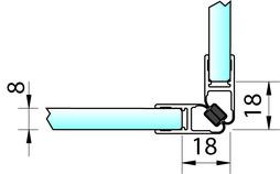 Profili di tenuta box doccia con magnete 90° PAULI+SOHN