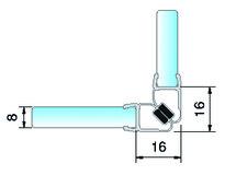 Magnetduschtürdichtungen 90° 8851 PAULI+SOHN