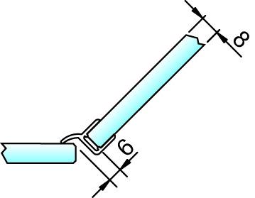 Joint d'étanchéité pour douche 135° 8860 avec butée PAULI+SOHN