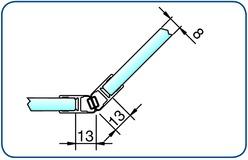 Profili di tenuta box doccia con magnete 135° PAULI+SOHN