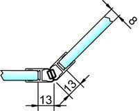 Joint d'étanchéité pour douche avec aimant 135° PAULI+SOHN