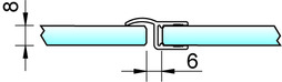 Profili di tenuta box doccia 180° PAULI+SOHN con battuta