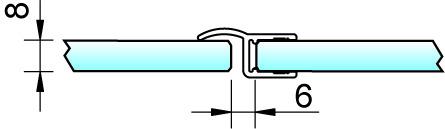 Joint d'étanchéité pour douche 180° 8857 avec butée PAULI+SOHN