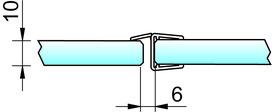 Joint d'étanchéité pour douche 180° 8857 PAULI+SOHN