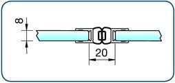 Profili di tenuta box doccia con magnete 180°