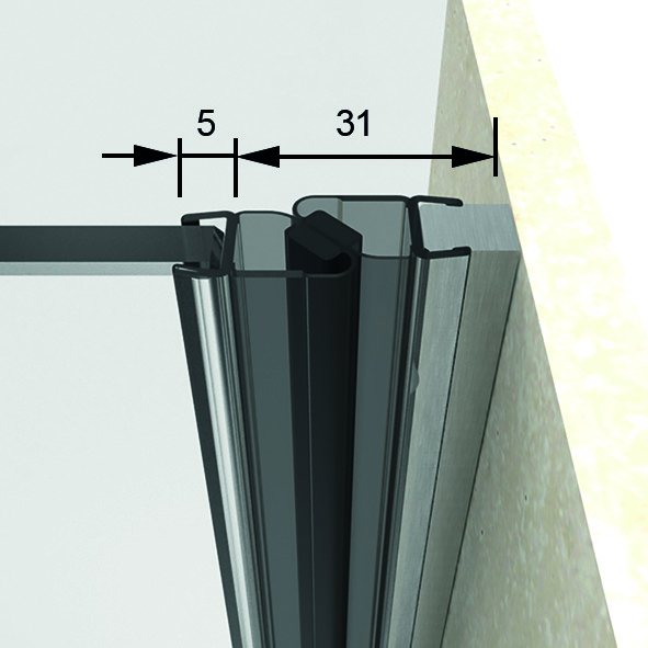 Profili di tenuta box doccia con magnete 180° 8852 PAULI+SOHN