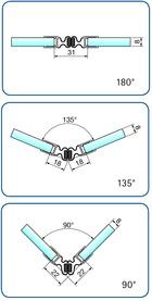 Profili di tenuta box doccia con magnete flessibile 90-180° PAULI+SOHN