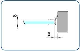 Profili di tenuta box doccia lateralmente PAULI+SOHN