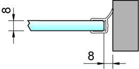 Joint d'étanchéité pour douche 90° latéralement 8862 PAULI+SOHN