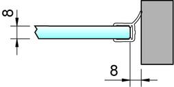 Profili di tenuta box doccia 90° lateralmente PAULI+SOHN