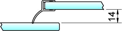 Joint d'étanchéité pour douche 180° latéralement 8858 PAULI+SOHN