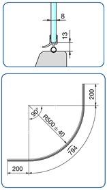 Profili di tenuta box PAULI+SOHN per doccia circolare