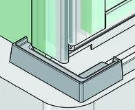 Terminali per profili d'angolo PAULI+SOHN per profili deflettori d'angolare