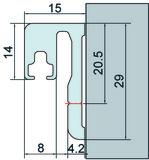 Montageprofile PAULI+SOHN für Duschtürdichtungen