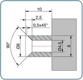 Profile di montaggio PAULI+SOHN per profili di tenuta box doccia