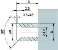 Profil de montage PAULI+SOHN pour joint d'étanchéité pour douche