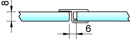 Joint d'étanchéité pour douche 180° avec butée 8856 PAULI+SOHN