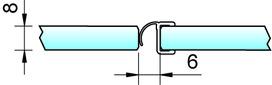 Joint d'étanchéité pour douche 180° avec butée 8865 PAULI+SOHN