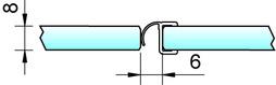 Joint d'étanchéité pour douche 180° PAULI+SOHN avec butée