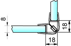 Profili di tenuta box doccia con magnete 90° PAULI+SOHN – cromato