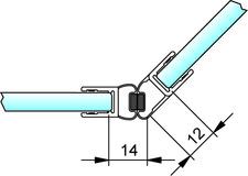 Joint d'étanchéité pour douche avec aimant 135° PAULI+SOHN – chromé