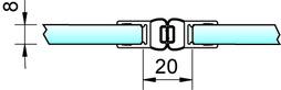 Profili di tenuta box doccia con magnete 180° PAULI+SOHN - cromato