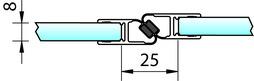 Profili di tenuta box doccia con magnete 180° PAULI+SOHN – cromato
