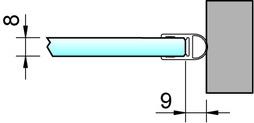 Joint d'étanchéité pour douche latéralement PAULI+SOHN – chromé