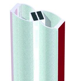 Joint d'étanchéité pour douche avec aimant 180° à coller BOHLE