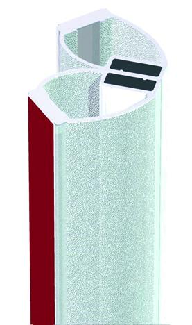 Profili di tenuta box doccia con magnete 90° d'incollare BOHLE