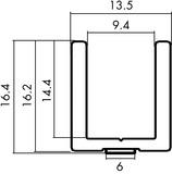 Profili da pavimento Vitris Aquant 40