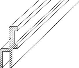 Profile di montaggio DORMA PROVITRIS per profili di tenuta box doccia