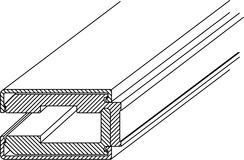 Profils de serrage pour raccord mural GRAL
