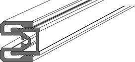 Sistema di profili di collegamento a pareti per elemento laterale DORMA